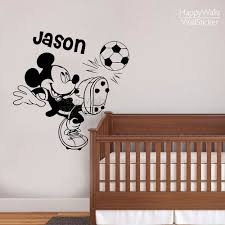 compare prices on football wall decals online shopping buy low minky mouse name wall sticker diy baby nursery custom name football wall decal kids room children