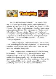 what did the pilgrims do on thanksgiving 119 free esl thanksgiving worksheets