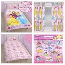 disney princess bedroom range single duvet cover set u0026 curtains