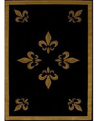Fleur De Lis Area Rug Winter Shopping Deals On Black Fleur De Lis Area Rug 5x7