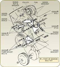 corvette alternator bracket with power steering 427 454 1968