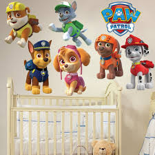 Large Wall Stickers Uk Paw Patrol Kids Boy Girls Bedroom Decal Wall Art Sticker Gift