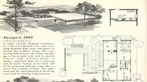 mid century style house plans 1950s modern books floor plan 6