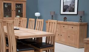 Oak Dining Room Furniture Small Blue Dresser In Alcove Cottage Dining Room Stock Photo