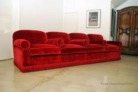 Velvet Sofa For Sale by Classic Design Red Velvet Sofa U0026 Ottomans Custom Screening Room