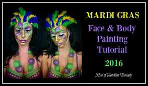 mardi gras face mask and body painting tutorial 2016 youtube