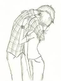 easy drawing romantic 1000 ideas about anime couples hugging on