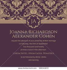 Wedding Invite Verbiage Invitation Card Grunge Texture Wedding Invitation Stock Vector