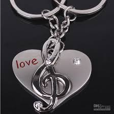 love key rings images Love note pendant key chain stainless steel metal chain key ring jpg