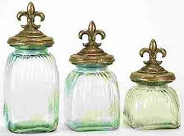 fashioned kitchen canisters fashioned country glass kitchen canister set of 3 fleur