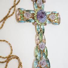 vintage cross necklace images Vintage juliana cross necklace chunky from patsy 39 s vintage jpg