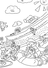 mario kart coloring page free download