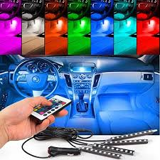 Jeep Wrangler Waterproof Interior 4pcs Car Interior Decoration Nerlmiay Atmosphere Light Led Car