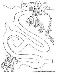 dragon maze coloring activity sheet create a printout or activity