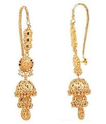 kaan earrings buy goldnera pretty ethnic deisgner kaan chain jhumki earring