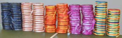 dyed ribbon dyed silk ribbon ready for market bias cut ribbon on it s way