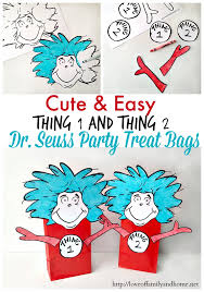 dr seuss party supplies thing 1 thing 2 dr seuss party favors treat bags of