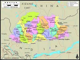 Wall Map Bhutan Political Wall Map Maps Com