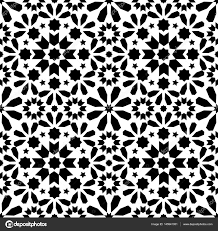 Morocco Design by Geometric Seamless Pattern Moroccan Tiles Design Seamless Black