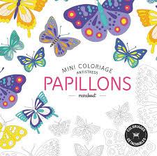 Livre mini coloriage antistress papillons Collectif Marabout