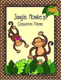 Monkey Classroom Decorations Zoo And Jungle Animals Classroom Door Classroom Door