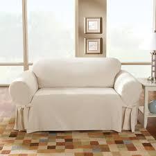 sure fit cotton duck box cushion sofa slipcover u0026 reviews wayfair