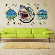 home decor 3d stickers wowall halloween horrible home decor 3d aquarium ocean underwater