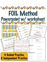 foil method multiplying binomials powerpoint w notes by lisa