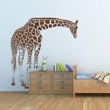 Giraffe Wall Decals For Nursery Giraffe Big Wall Decal By Artollo