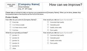 free survey template survey template word free survey template