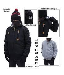 Foto Sepatu Dc Distro jual distro bandung detil produk dc errow 2 in 1 black jaket