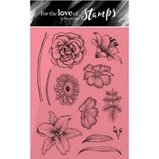 hunkydory for the love of stamps floral sketches stamps