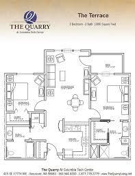 2 bedroom 2 bath floor plans central vancouver wa senior living floor plans