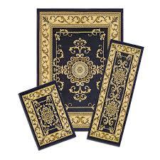 5 Piece Bathroom Rug Set by Amazon Com Achim Home Furnishings Capri 3 Piece Rug Set Royal