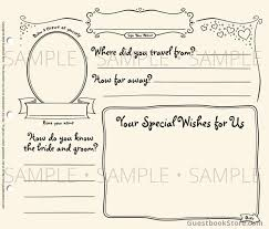 wedding guest book pages casual wedding guestbook guestbook store