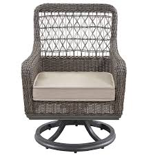 Swivel Patio Dining Chairs Paula Deen Home Dogwood Swivel Patio Dining Chair With Cushion