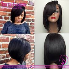 layered long bob hairstyles for black women black bob hairstyles with side bangs hair