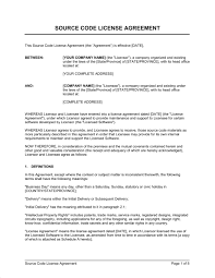 licensing agreement template free content license agreement sample compromise agreements