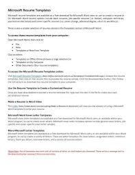free resume templates microsoft 14 microsoft resume templates