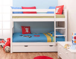 Kid Bunk Bed Modern Kid S White Bunk Beds Elites Home Decor