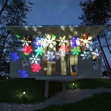 multi color moving snowflake led landscape laser light