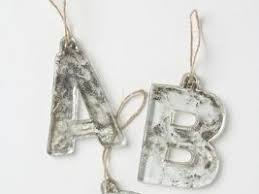 tips from town mercury glass monogram ornament from