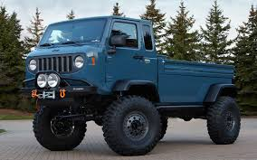 chief blue jeep jeep chief hints at diesel power pickup for next gen wrangler