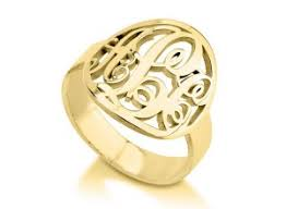 Monogram Ring Gold Rings