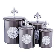 fleur de lis kitchen canisters fleur de lis 4 kitchen canister set reviews wayfair