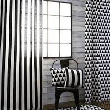 Black And White Blackout Curtains Top Finel Black And White Print Curtain Panel For Living