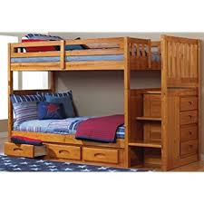 Twin Beds With Drawers Amazon Com Acme 10170 Allentown Twin Twin Bunk Bed With Storage