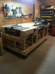 Rolling Work Benches Garage Workbench Rolling Garage Workbench Saw Table Work Bench