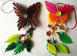 beautiful butterfly and leaf origami ornaments