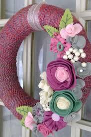best 25 felt flower wreaths ideas on pinterest felt wreath